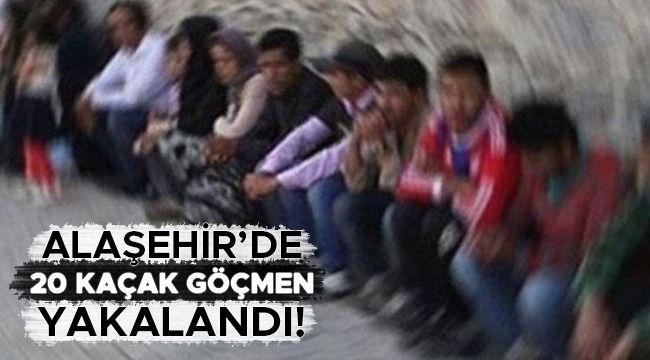 Alaşehir'de Afganistan Uyruklu 20 Göçmen Yakalandı