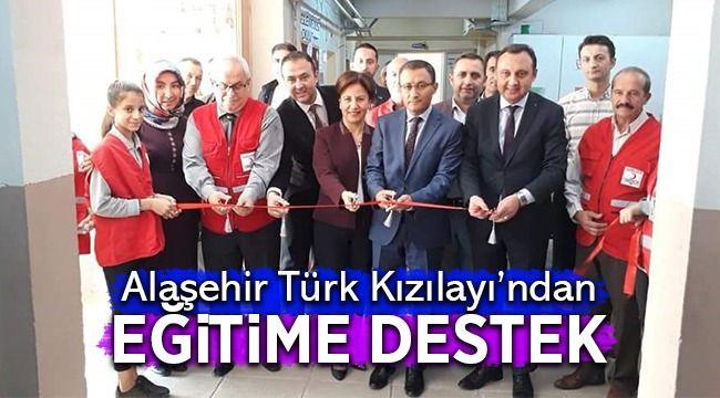 Alaşehir Türk Kızılayından Eğitime Destek