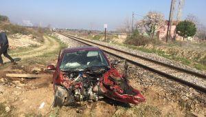 Alaşehir'de Hemzemin Geçitinde Tren Kazası Meydana Geldi