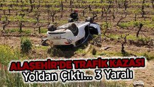 Alaşehir'de Trafik Kazası : 3 Yaralı