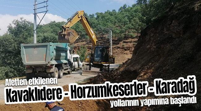 Alaşehir'de Aşırı Yağıştan Etkilenen Yolların Yapımına Başlandı