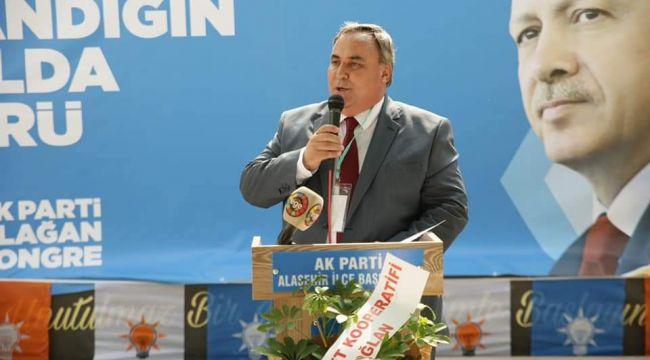 AK Parti Alaşehir 7. Olağan Kongresinde mevcut başkan Yaşar Demirel güven tazeledi.