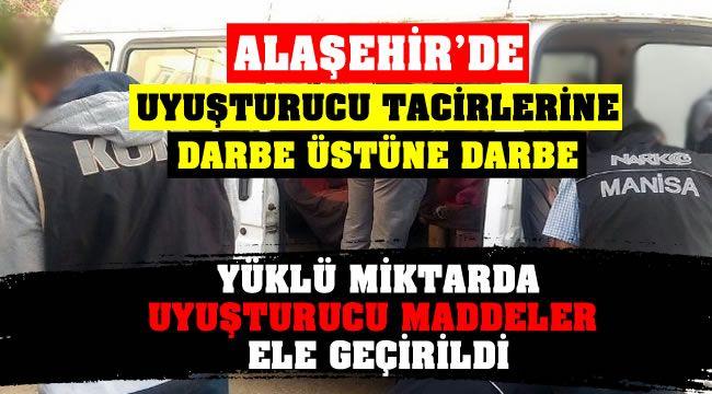 Alaşehir'de Yüklü Miktarda Uyuşturucu Maddeler Ele Geçirildi.