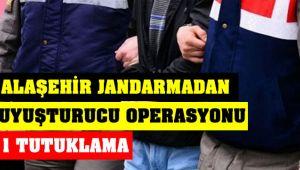 Alaşehir Jandarma Durdurduğu Otomobilde Uyuşturucu Ele Geçirildi