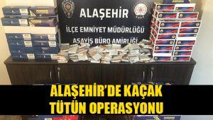 Alaşehir'de tütün kaçakçılığı operasyonun 1 kişi yakalandı