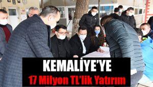 Kemaliye'ye 17 Milyon TL'lik Yatırım