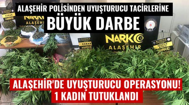 Alaşehir'de 3 kilo 200 gram esrar maddesi ele geçirildi : 1 Kadın Tutuklandı