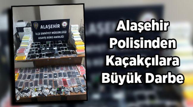 Alaşehir Polisinden Kaçakçılara Büyük Darbe