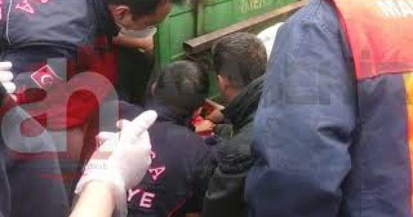 Alaşehir'de 3 Yaşındaki Küçük Çocuk Üzüm Savurma Makinesine Sıkıştı !