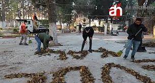 """Alaşehir'de Temizlik İşçilerinden """"Evde Kal"""" Çağrısı"""